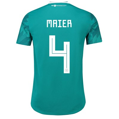 Germany Authentic Away Shirt 2018 with Maier 4 printing