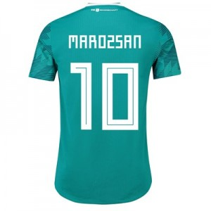 Germany Authentic Away Shirt 2018 with Marozsán 10 printing