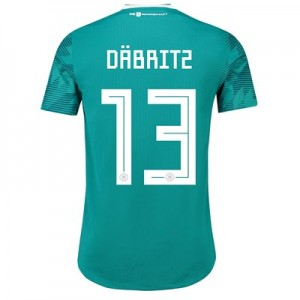 Germany Authentic Away Shirt 2018 with Däbritz 13 printing