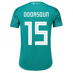 Germany Authentic Away Shirt 2018 with Doorsoun 15 printing