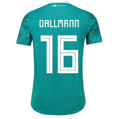 Germany Authentic Away Shirt 2018 with Dallmann 16 printing