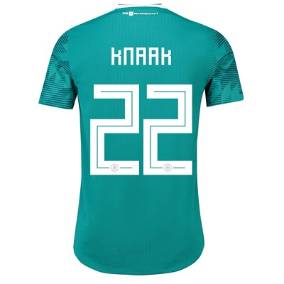 Germany Authentic Away Shirt 2018 with Knaak 22 printing