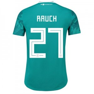 Germany Authentic Away Shirt 2018 with Rauch 27 printing