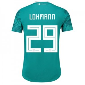 Germany Authentic Away Shirt 2018 with Lohmann 29 printing