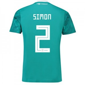 Germany Away Shirt 2018 with Simon 2 printing