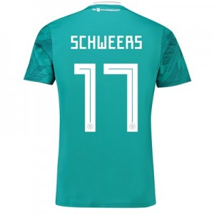 Germany Away Shirt 2018 with Schweers 17 printing