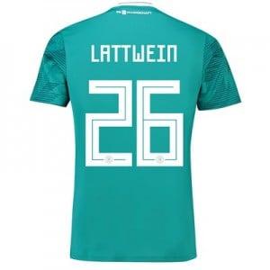 Germany Away Shirt 2018 with Lattwein 26 printing