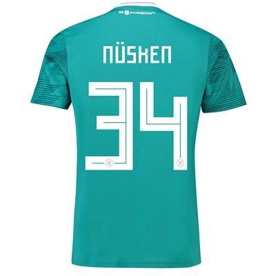 Germany Away Shirt 2018 with Nüsken 34 printing