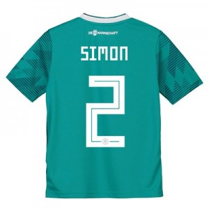 Germany Away Shirt 2018 - Kids with Simon 2 printing