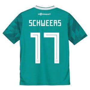 Germany Away Shirt 2018 - Kids with Schweers 17 printing