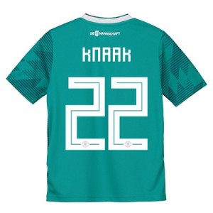 Germany Away Shirt 2018 - Kids with Knaak 22 printing