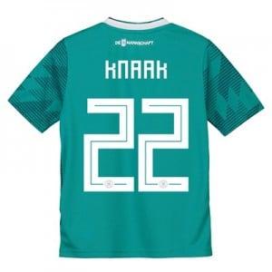 Germany Away Shirt 2018 - Kids with Knaak 22 printing