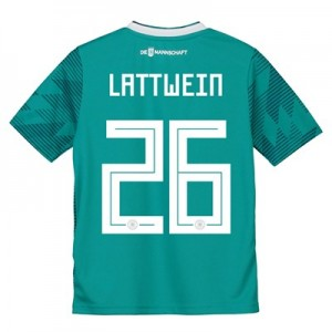 Germany Away Shirt 2018 - Kids with Lattwein 26 printing