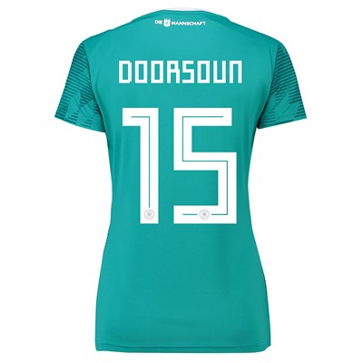 Germany Away Shirt 2018 - Womens with Doorsoun 15 printing