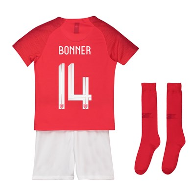 England Away Stadium Kit 2018 - Little Kids with Bonner 14 printing