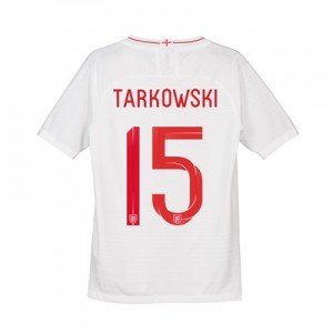 England Home Vapor Match Shirt 2018 - Kid's with Tarkowski 15 printing