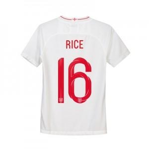 England Home Stadium Shirt 2018 - Kids with Rice 16 printing