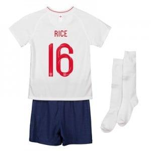 England Home Stadium Kit 2018 - Infants with Rice 16 printing