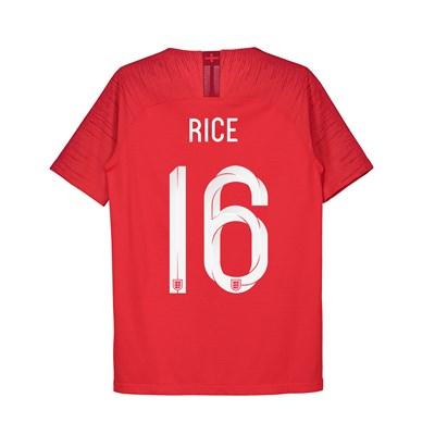England Away Vapor Match Shirt 2018 - Kids with Rice 16 printing