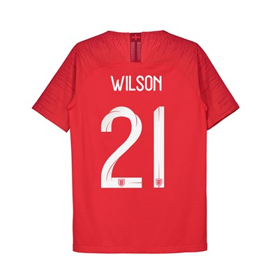 England Away Vapor Match Shirt 2018 - Kids with Wilson 21 printing