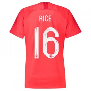 England Away Stadium Shirt 2018 - Womens with Rice 16 printing