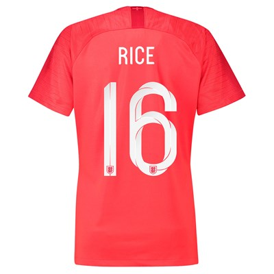England Away Stadium Shirt 2018 - Womens with Rice 16 printing