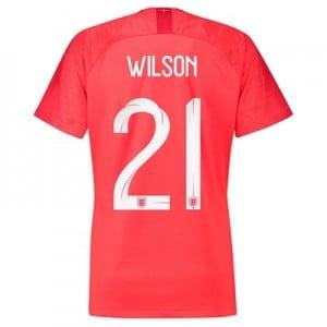 England Away Stadium Shirt 2018 - Womens with Wilson 21 printing