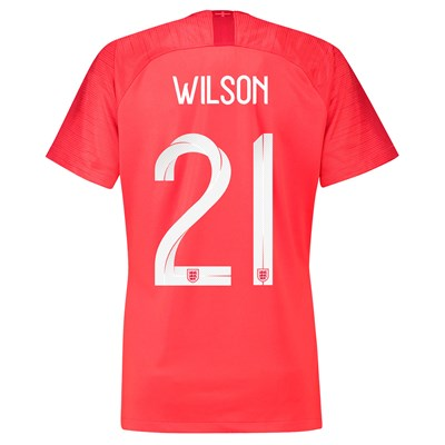 England Away Stadium Shirt 2018 - Womens with Wilson 21 printing