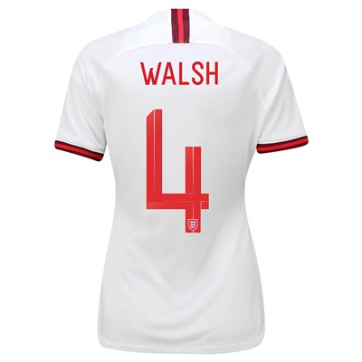 England Home Vapor Match Shirt 2019-20 - Women's with Walsh 4 printing