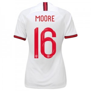 England Home Vapor Match Shirt 2019-20 - Women's with Moore 16 printing