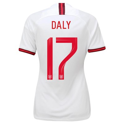 England Home Vapor Match Shirt 2019-20 - Women's with Daly 17 printing
