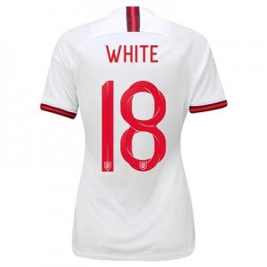 England Home Vapor Match Shirt 2019-20 - Women's with White 18 printing