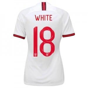 England Home Vapor Match Shirt 2019-20 - Women's with White 18 printing