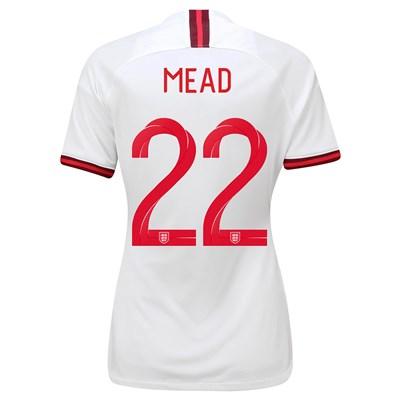 England Home Vapor Match Shirt 2019-20 - Women's with Mead 22 printing