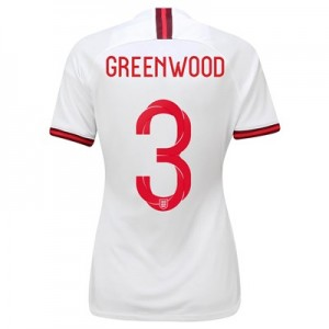 England Home Stadium Shirt 2019-20 - Women's with Greenwood 3 printing