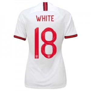 England Home Stadium Shirt 2019-20 - Women's with White 18 printing