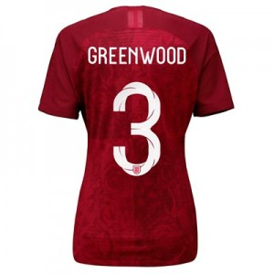 England Away Vapor Match Shirt 2019-20 - Women's with Greenwood 3 printing