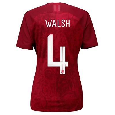 England Away Vapor Match Shirt 2019-20 - Women's with Walsh 4 printing