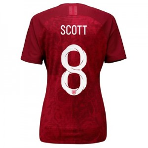 England Away Vapor Match Shirt 2019-20 - Women's with Scott 8 printing