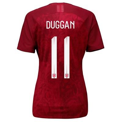 England Away Vapor Match Shirt 2019-20 - Women's with Duggan 11 printing