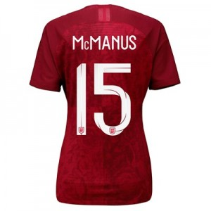 England Away Vapor Match Shirt 2019-20 - Women's with McManus 15 printing