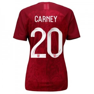 England Away Vapor Match Shirt 2019-20 - Women's with Carney 20 printing