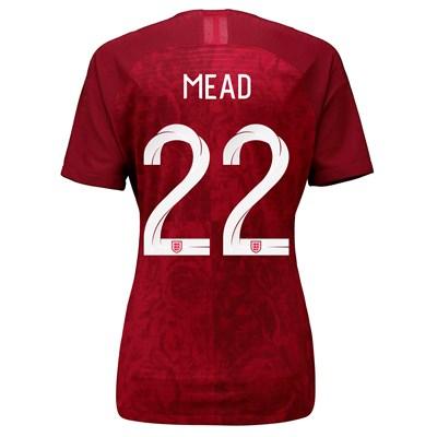 England Away Vapor Match Shirt 2019-20 - Women's with Mead 22 printing