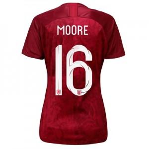England Away Stadium Shirt 2019-20 - Women's with Moore 16 printing