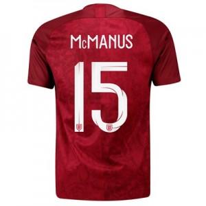 England Away Stadium Shirt 2019-20 - Men's with McManus 15 printing