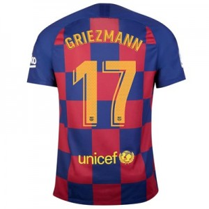 Barcelona Home Stadium Shirt 2019-20 with Griezmann 17 printing
