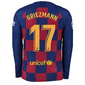 Barcelona Home Stadium Shirt 2019-20 - Long Sleeve with Griezmann 17 printing