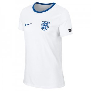 England Crest T-Shirt - White - Womens