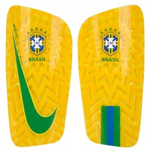 Brazil Mercurial Lite Shinguards - Gold