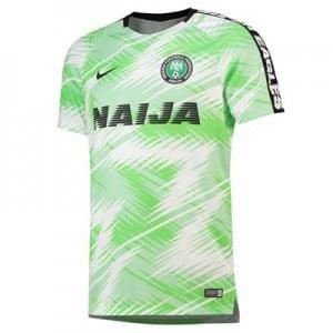 Nigeria Squad Graphic Training Top - Black